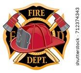 fire department cross symbol is ... | Shutterstock . vector #712374343