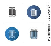 package of cotton buds icon.... | Shutterstock .eps vector #712393417