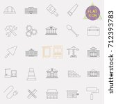 building line icons set | Shutterstock .eps vector #712393783