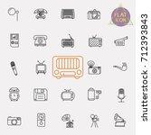 vintage retro line icon set | Shutterstock .eps vector #712393843
