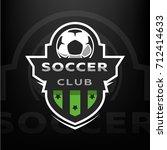 soccer club  sport logo. | Shutterstock .eps vector #712414633