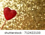valentine's day theme with... | Shutterstock . vector #712422133
