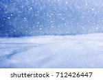 natural winter background with... | Shutterstock . vector #712426447