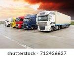 truck  freight transportation | Shutterstock . vector #712426627