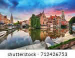 Bruges At Dramatic Sunset ...