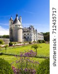 famous chateau in the loire...   Shutterstock . vector #712435717