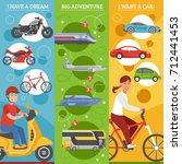 transport dreams vertical... | Shutterstock . vector #712441453