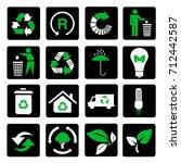 vector set of environmental  ...   Shutterstock .eps vector #712442587