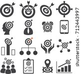 target business mission icons... | Shutterstock .eps vector #712443997