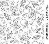 christmas seamless pattern...   Shutterstock .eps vector #712450963