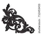 baroque vector of vintage... | Shutterstock .eps vector #712453453