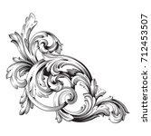 baroque vector of vintage... | Shutterstock .eps vector #712453507