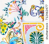 detail of the traditional tiles ...   Shutterstock . vector #712462477