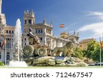 fountain of cibeles in madrid ... | Shutterstock . vector #712467547