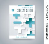 cover design business brochure  ... | Shutterstock .eps vector #712478647