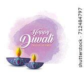 diwali or deepavali greetings... | Shutterstock .eps vector #712484797