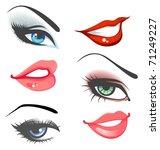 lips   eyes set