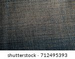 Jeans. Blue Jeans Fabric As A...