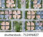 top view of village | Shutterstock . vector #712496827