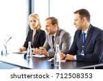 close up of participants of... | Shutterstock . vector #712508353