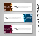 vector abstract design banner... | Shutterstock .eps vector #712509403