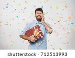 negative facial expressions ... | Shutterstock . vector #712513993
