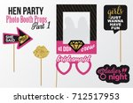 hen party photobooth picture... | Shutterstock .eps vector #712517953