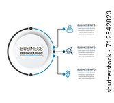 business infographic elements | Shutterstock .eps vector #712542823