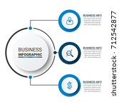 business infographic elements | Shutterstock .eps vector #712542877