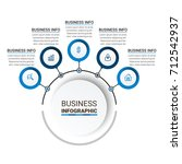 business infographic elements | Shutterstock .eps vector #712542937