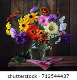 Autumn Bouquet Of Cultivated...