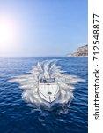 luxury motor boat  rio yachts...   Shutterstock . vector #712548877