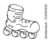 roller skates. vector... | Shutterstock .eps vector #712554553