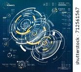 abstract vector circular... | Shutterstock .eps vector #712561567