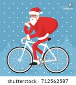 flat design hipster santa... | Shutterstock .eps vector #712562587