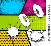 pop art comics book magazine... | Shutterstock .eps vector #712570183