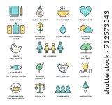 sustainable development goals... | Shutterstock .eps vector #712573543