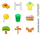 outdoor park recreation icon...   Shutterstock .eps vector #712576207