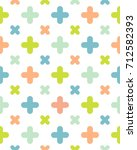 round thick plus cross cute... | Shutterstock .eps vector #712582393