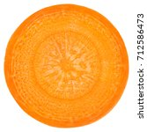 carrot slice  clipping path ... | Shutterstock . vector #712586473