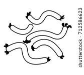 escherichia coli virus icon.... | Shutterstock .eps vector #712586623