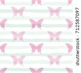 cute seamless pattern with... | Shutterstock .eps vector #712587097