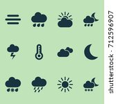 climate icons set. collection... | Shutterstock .eps vector #712596907