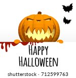 happy halloween. a template on... | Shutterstock .eps vector #712599763