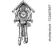 vector hand drawn sketch of old ... | Shutterstock .eps vector #712607857