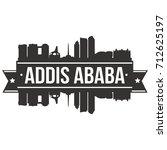 addis ababa skyline silhouette... | Shutterstock .eps vector #712625197