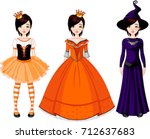 illustration of paper doll with ... | Shutterstock .eps vector #712637683