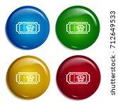 bus ticket multi color gradient ...