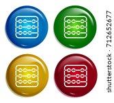 abacus multi color gradient...