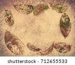 close up autumn dry leaves on... | Shutterstock . vector #712655533